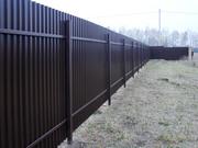 Забор. Металлоштакетник. Забор из профнастила. Ворота.